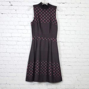 Who What Wear Black Sleeveless High Neck Polka Dot